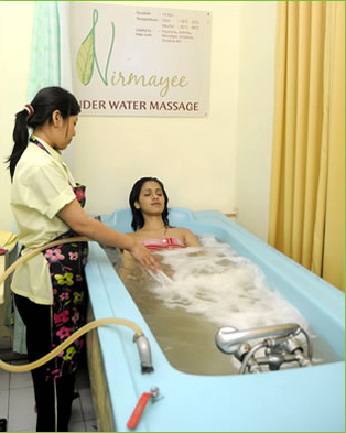 under water massage